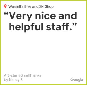 Google Reviews Wersells Bike Shop