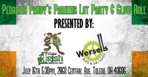 Pedaling Paddy's Parking Lot Party & Glow Roll